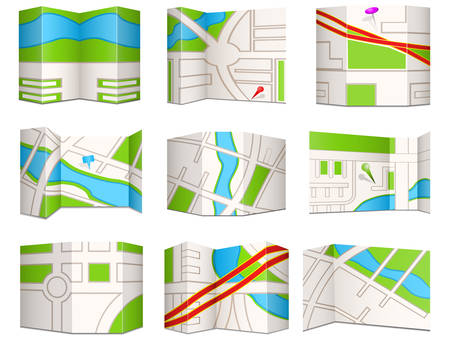 Collection of city navigational maps.