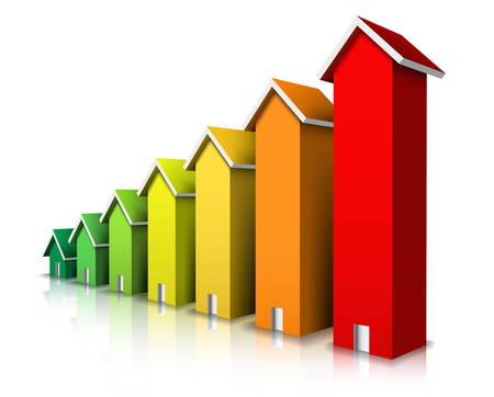 eficiencia energetica: Ilustraci�n vectorial de calificaci�n de eficiencia energ�tica.