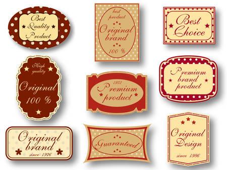 Vector illustration of vintage labels.