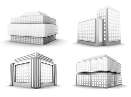 financial district: Vector set of buildings.