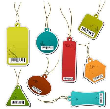 Vector illustration of multicolored labels.