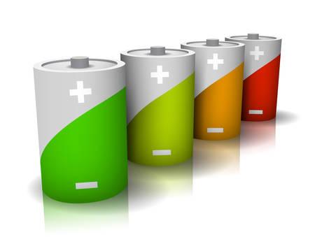 eficiencia energetica: Bater�as simbolizan la eficiencia energ�tica.