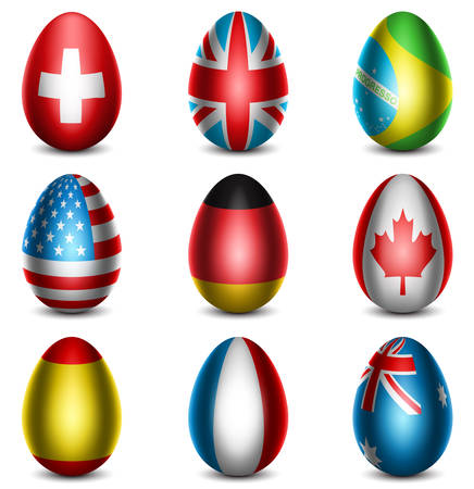 Vector illustration of Easter eggs.