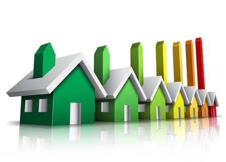 Vector illustration of energy efficiency rating. Vector