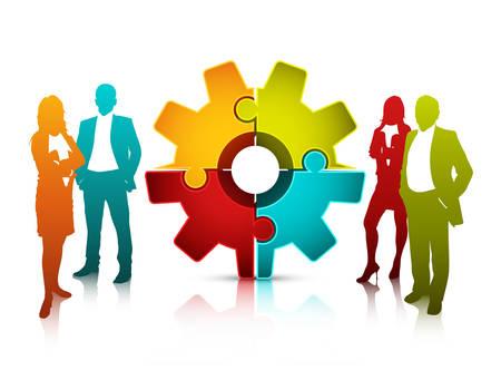 Vector illustration of business team.  Illustration