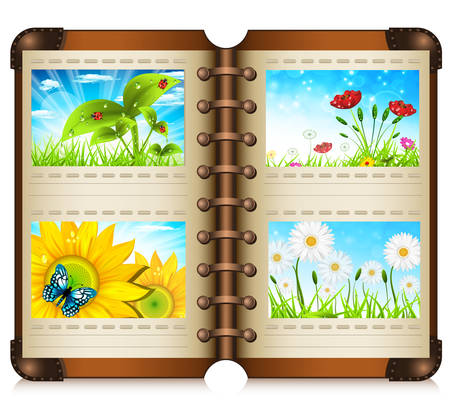 Album with nature motives.Vector illustration. Vector