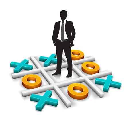 business game: Vector illustration of business game. Illustration
