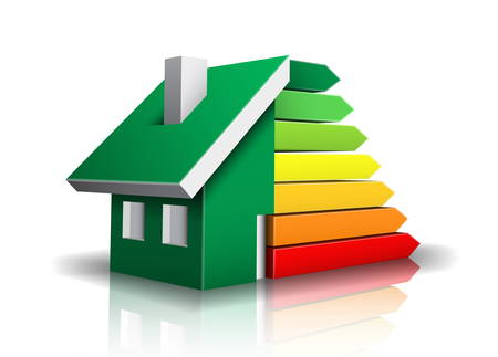 illustration of energy efficiency rating.