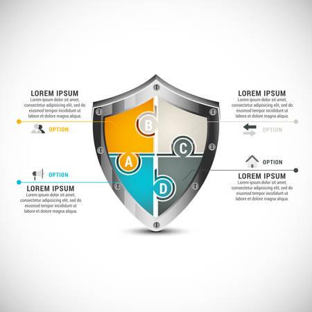 Vector illustratie van zakelijke infographic gemaakt van de puzzel.