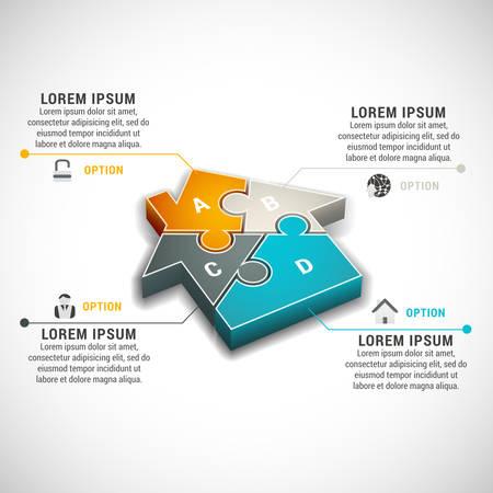 illustratie van zakelijke infographic gemaakt van huis.