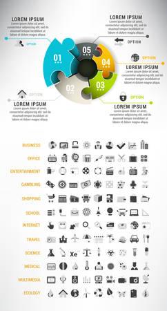 Illustratie van puzzel infographic geschikt voor verschillende projecten.
