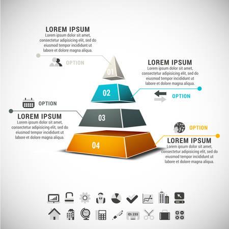 Zakelijke infographic gemaakt van de piramide. Stockfoto - 30906468