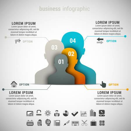 Vector illustratie van zakelijke infographic gemaakt van mensen. Stockfoto - 34249051