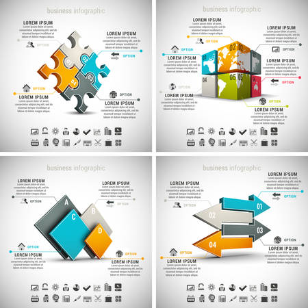 Vector set of business infographics. Vol.5.