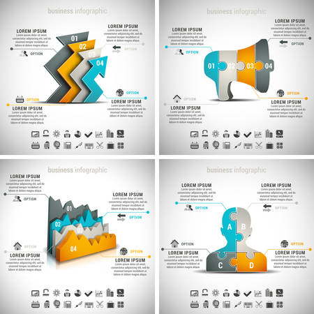 modern business: Vector set of business infographics. Vol.7.