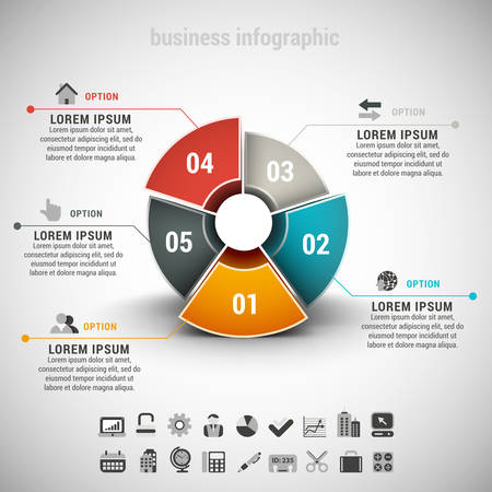 Vector illustration of business infographic made of chart.