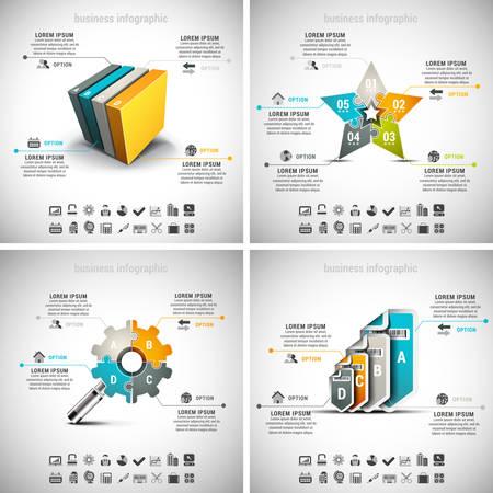 Vector set of business infographics. Vol.11.