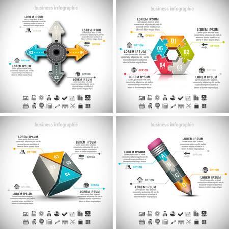 Vector set of business infographics. Vol.15.