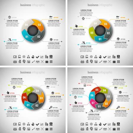 Vector illustratie van de zakelijke infographics gemaakt van pijlen. Stock Illustratie