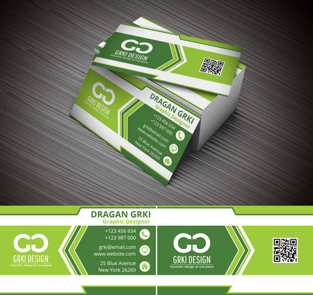 Vector illustration of creative business card. Stok Fotoğraf - 45015946