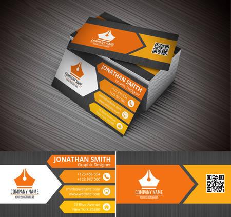 創造的なビジネス カードのベクター イラストです。