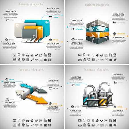 business marketing: Vector set of business infographics. Vol.30.