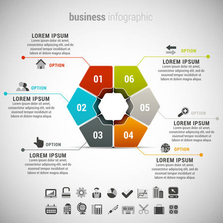 ilustracion: Vector illustration of business infographic.