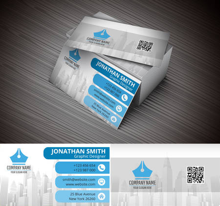 business card design: Vector illustration of creative business card.