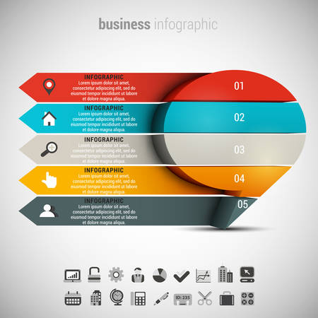 chat box: Vector illustration of business infographic made of chat box. Illustration