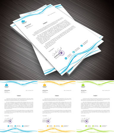 purpose: This is simple and creative letterhead for business and personal purpose usages. Vector illustration.