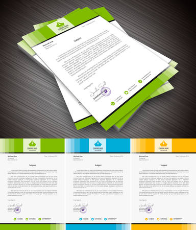 This is simple and creative letterhead for business and personal purpose usages. Well organized and layered. Easy to edit.