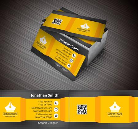 Vector illustration of creative business card.
