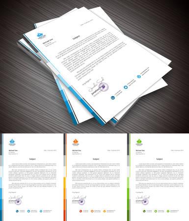 Este es el membrete simple y creativa para usos comerciales y de uso personal. Bien organizado y en capas. Fácil de editar.