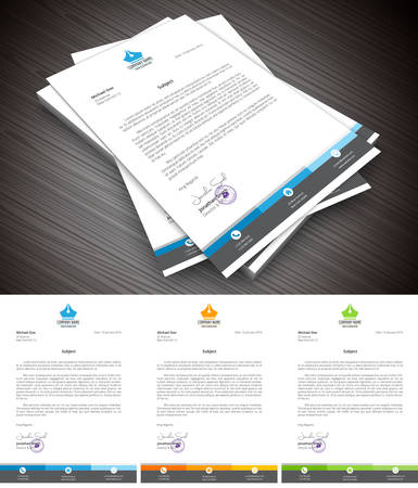 This is simple and creative letterhead for business and personal purpose usages. Well organized and layered. Easy to edit. 版權商用圖片 - 52985146