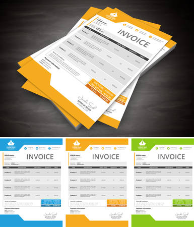 This is simple and creative invoice. Well organized and layered. Easy to edit.Vector illustration. Stok Fotoğraf - 53079337