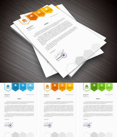 organized: This is simple and creative letterhead for business and personal purpose usages. Well organized and layered. Easy to edit.