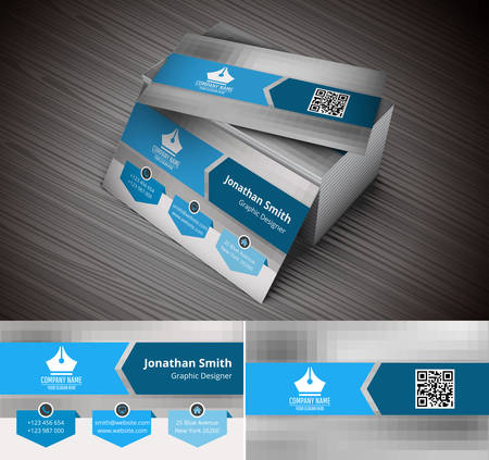 Vector illustration of business card.