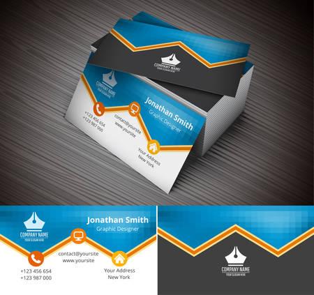 business card design: Vector illustration of business card.