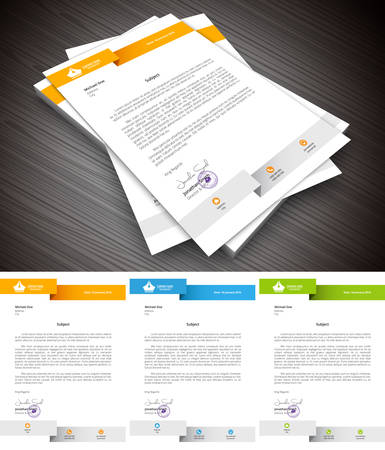 This is simple and creative letterhead for business and personal purpose usages. Well organized and layered. Easy to edit. illustration. Stock fotó - 53862565