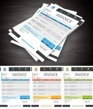 This is simple and creative invoice. Well organized and layered. Easy to edit. illustration.