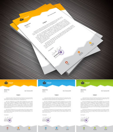 This is simple and creative letterhead for business and personal purpose usages.