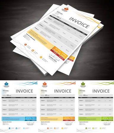 invoice: This is simple and creative invoice. Well organized and layered. Easy to edit. illustration.