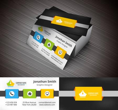 business card design: illustration of business card. Illustration