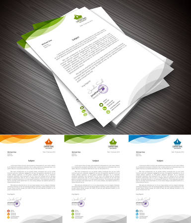 This is simple and creative letterhead for business and personal purpose usages. Well organized and layered. Easy to edit. illustration.