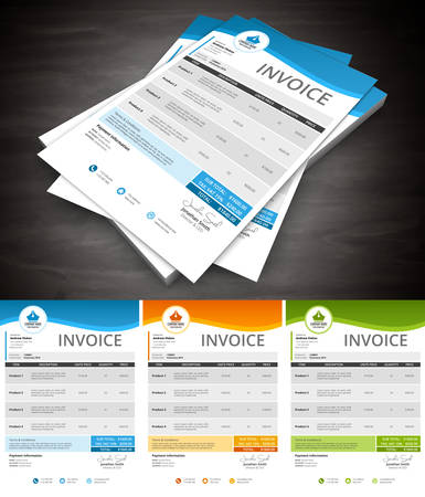 This is simple and creative invoice. Well organized and layered. Easy to edit. Vector illustration.