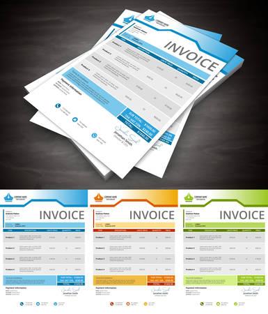 invoice: Vector illustration of invoice.