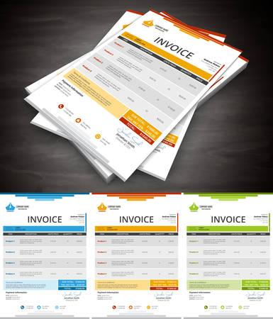 calculating: Vector illustration of creative invoice. Illustration