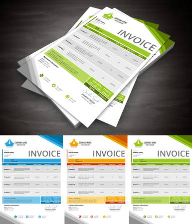 invoices: Vector illustration of invoice.