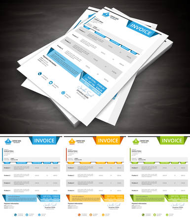 Vector illustration of creative invoice. Ilustração