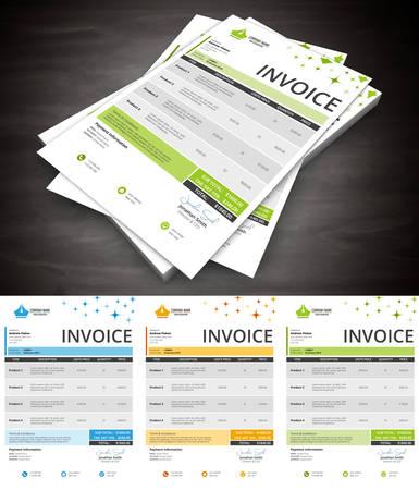 billing: Vector illustration of creative invoice template. Illustration